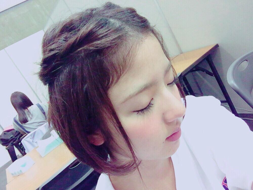 可愛い髪型の和田まあや