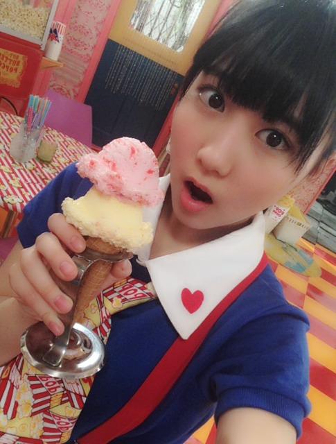 2段アイスクリームと美久ちゃん
